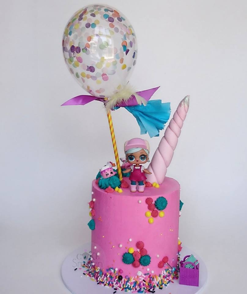 LOL Unicorn Theme Cake