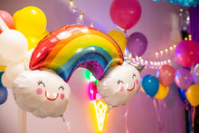 Load image into Gallery viewer, Rainbow With Clouds Foil Balloon