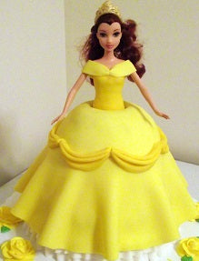 Princess Belle Dolly Cake