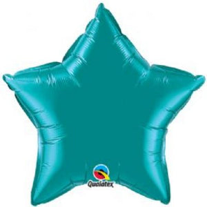 Teal Star Foil 50cm Balloon