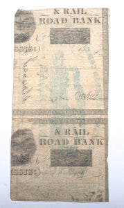 Mississippi Southern Railroad Co. $1 Note Dated 1861