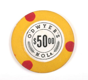 New Orleans Vintage Gaming Chip  - O'Dwyers $50
