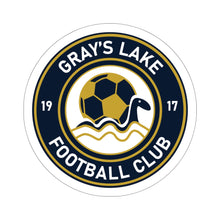 Load image into Gallery viewer, Gray's Lake Badge Kiss-Cut Stickers