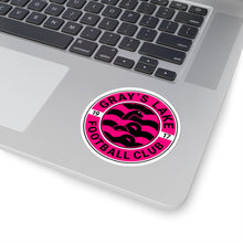 Load image into Gallery viewer, Gracie Pink Badge Kiss-Cut Stickers