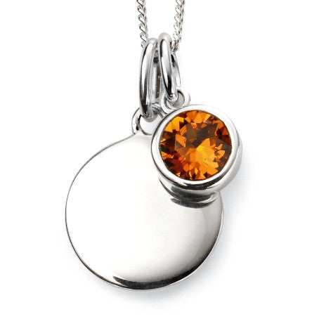 November Topaz Birthstone Necklace