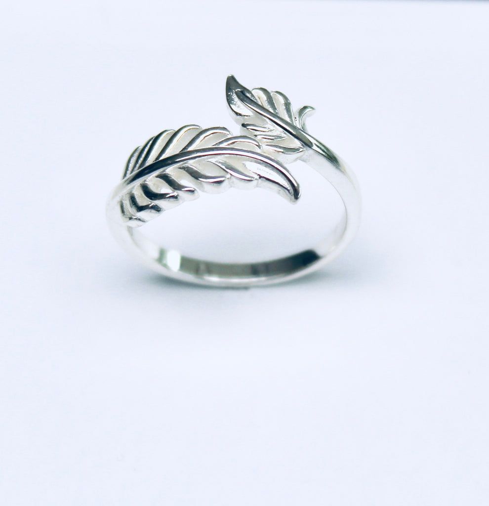 Sterling Silver Angel's Feather Ring