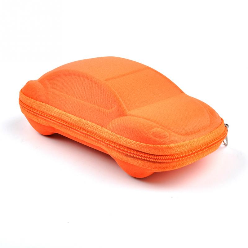 Étui à Lunette en Forme de Voiture Orange