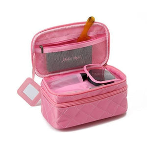 Trousse De Maquillage 2 Compartiments Rose