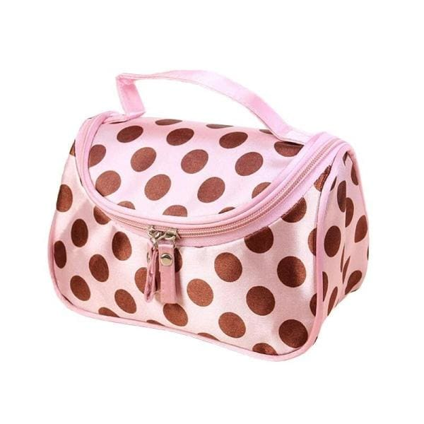 Trousse De Maquillage a Pois Saumon