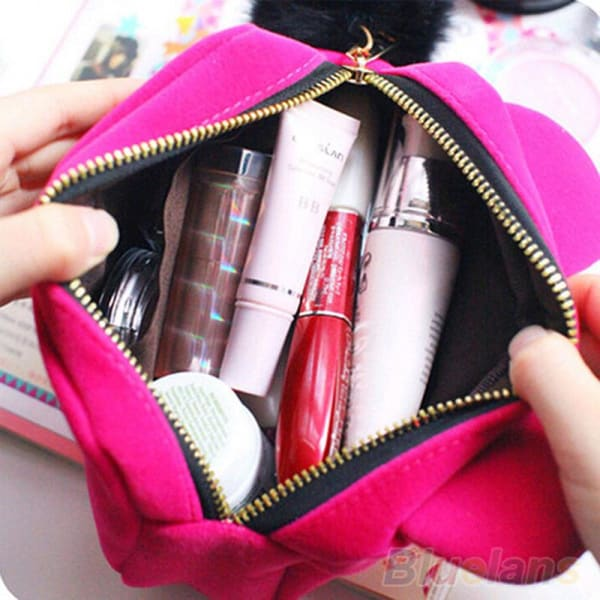Trousse De Maquillage Chat Rouge