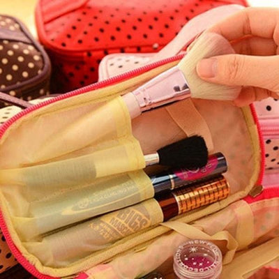 Trousse De Maquillage Double Compartiment Noir