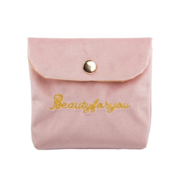 Trousse De Maquillage Velours Rose
