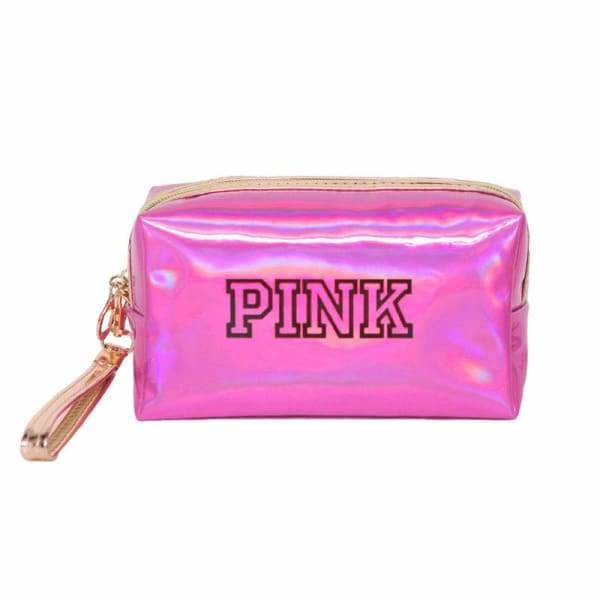 Trousse Maquillage Waterproof Brillante PINK