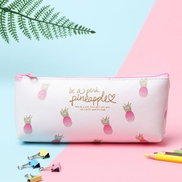 Trousse Scolaire Ananas Blanche