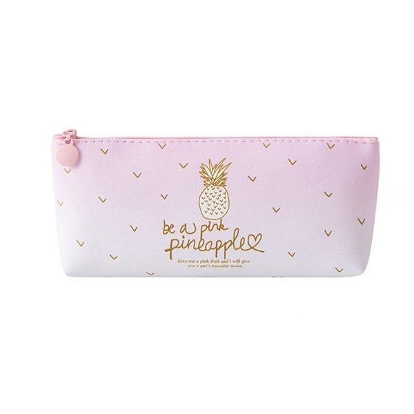Trousse Scolaire Ananas Rose