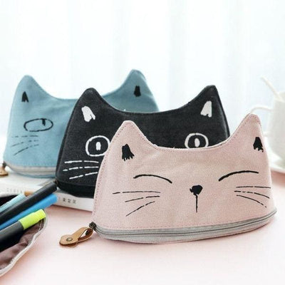 Trousse Scolaire Chaton Rose