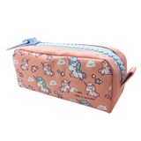 Trousse Scolaire Fille Licorne Orange