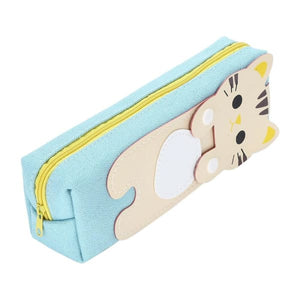 Trousse Scolaire Rectangulaire Chat Beige
