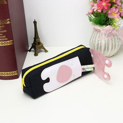Trousse Scolaire Rectangulaire Chat Blanc