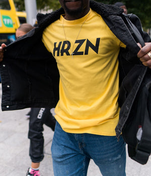 "HRZN Classic Yellow - ""Yin and Yang"" - T-shirt"