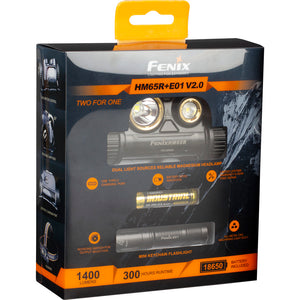 Fenix Hm65r Headlamp 1400 Lumen W- E01 V2.0 Light