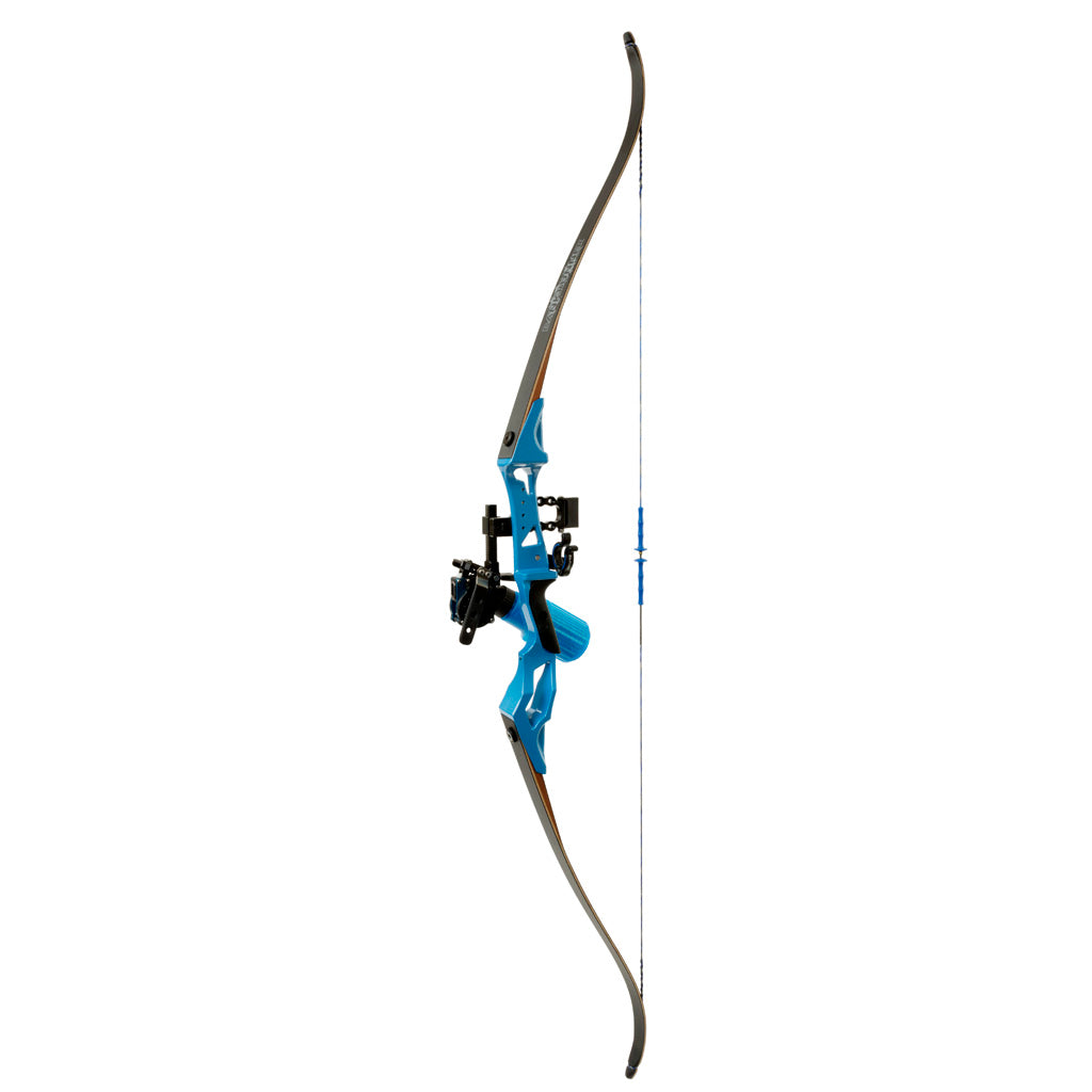 Fin Finder Bank Runner Bowfishing Recurve Package W-winch Pro Bowfishing Reel Blue 35 Lbs. Rh