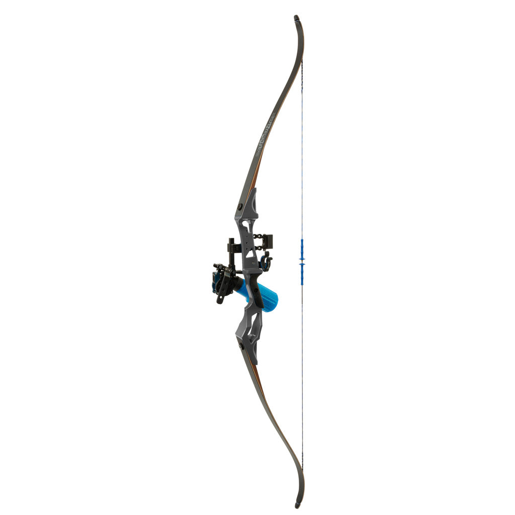Fin Finder Bank Runner Bowfishing Recurve Package W-winch Pro Bowfishing Reel Black 35 Lbs. Rh