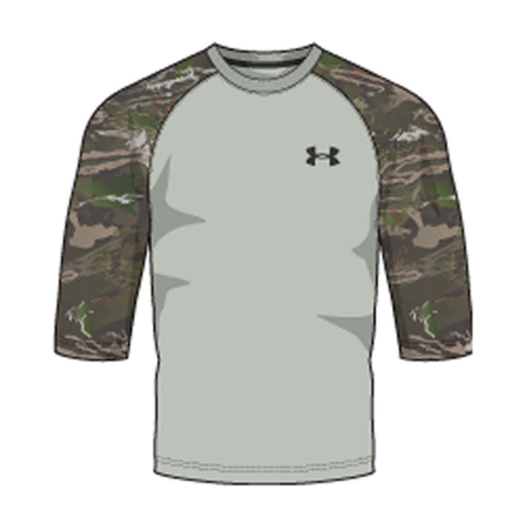 Under Armour Mens Hunt Baseball Tee Shirt Olive-artillery Green 2x-large