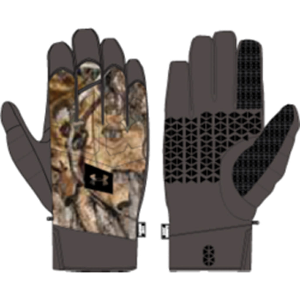Under Armour Mens Mid Season Windstopper Glove Realtree Edge Large