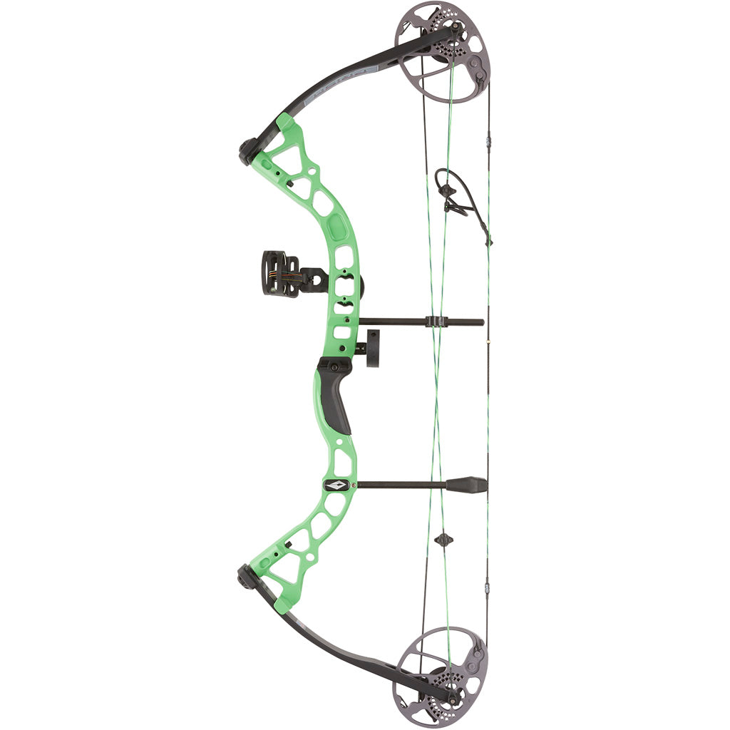 Diamond Atomic Bow Package Neon Green 12-24 In. 29 Lbs. Rh