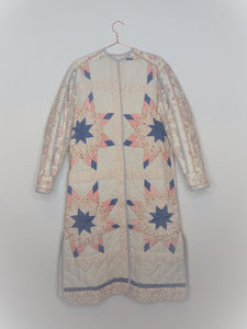 Expanding Sleeve Patchwork Coat