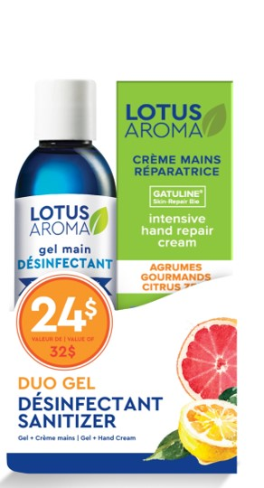 Hand Sanitizer Gel & Citrus Zest Hand Cream Duo