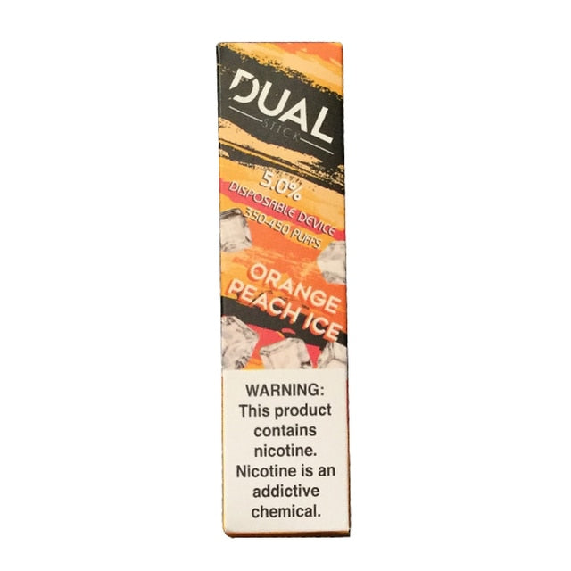Dual Stick Disposable orange peach ice 10 pack