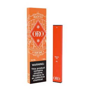 oro disposable peach ice 10 pack
