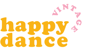 "Welcome to Happy Dance Vintage! ""Does it make you want to dance?""  Happy Dance Vintage was born out of the butterflies that come with treasure hunting for pieces so good they make you want to happy dance. It combines a love for vintage with a love for mov"