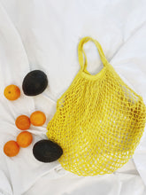 Load image into Gallery viewer, Hand-Dyed Tumeric Dandelion Market Tote