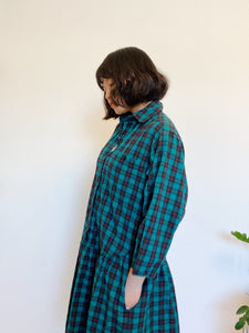 1980s Forest Drop Dress with Pockets