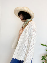 Load image into Gallery viewer, Hand-Crocheted Cream Cardigan