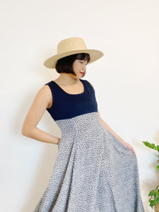 Sweet Navy Floral Dress