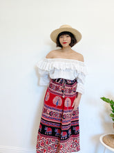 Load image into Gallery viewer, 100% Cotton Block Print Wrap Skirt