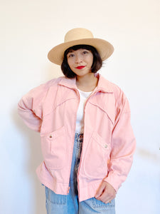 1980s Pink Cotton Jacket