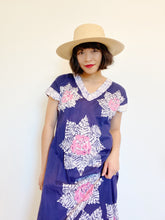 Load image into Gallery viewer, Indigo Floral Ruffled Dress