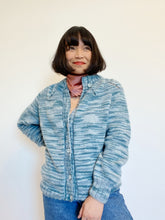 Load image into Gallery viewer, Hand-Knit Blues Button Cardigan