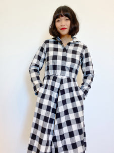 Gingham Dress with Pockets (Union Made)