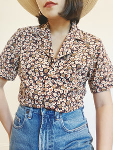 Sweet Floral Button Up