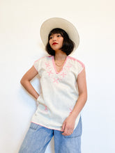Load image into Gallery viewer, Floral Embroidered Crochet Blouse