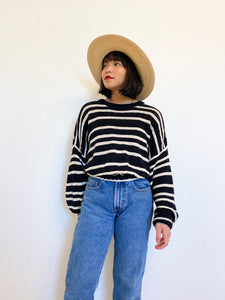 Reworked Everyday Cotton Striped Sweater