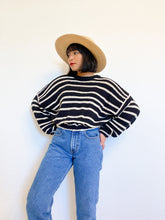 Load image into Gallery viewer, Reworked Everyday Cotton Striped Sweater