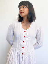 Load image into Gallery viewer, Dotted Sweetheart Puff Sleeve Dress