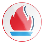 Load image into Gallery viewer, Liberty Flame Circle Sticker